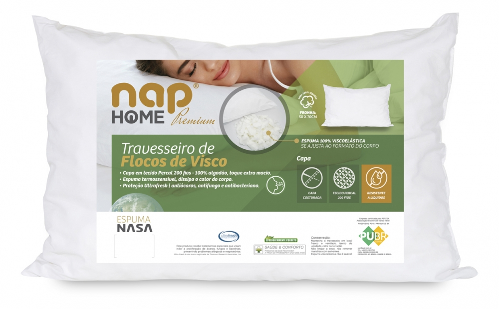 Travesseiro nap Home Premium Flocos de Visco